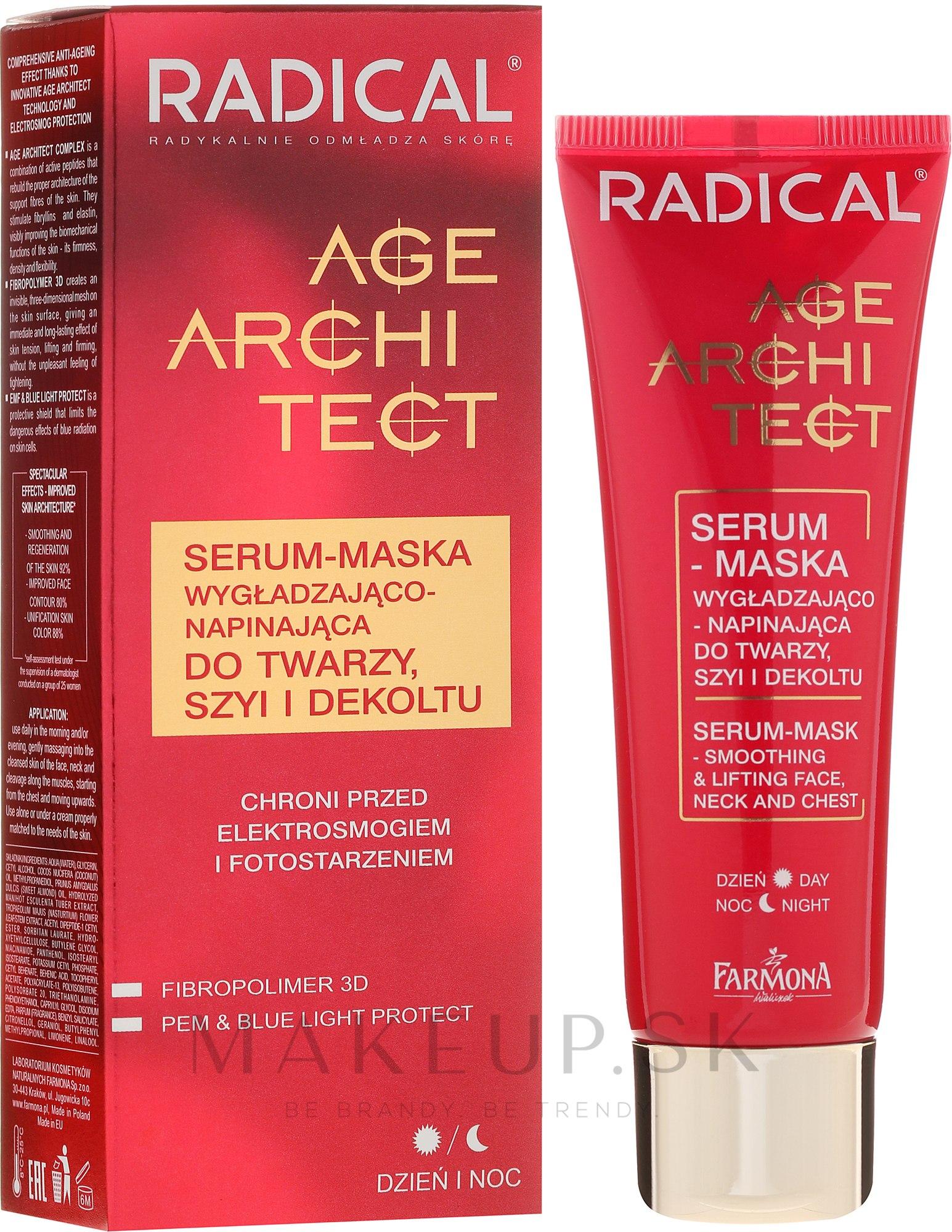 Sérum-maska vyhladenie-utesnenie tváre - Farmona Radical Age Architect Serum-Mask — Obrázky 50 ml