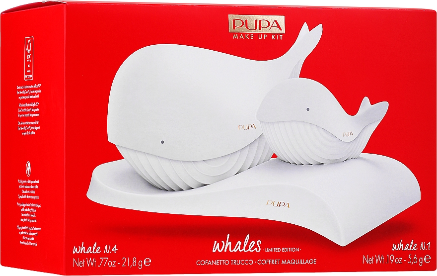 Sada - Pupa Whales Shade 001 Makeup Kit Limited Edition (palette/21.8g + palette/5.6g)
