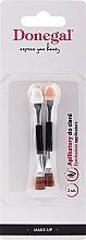 Voňavky, Parfémy, kozmetika Štetce na očné tiene, čierne, 2 ks - Donegal Eyeshadow Brush