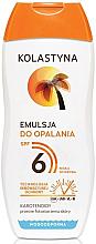 Voňavky, Parfémy, kozmetika Emulzia na opaľovanie - Kolastyna Suncare Emulsion SPF6