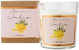 "Voňavky, Parfémy, kozmetika Vonná sviečka ""Mimóza"" - Ambientair Le Jardin de Julie Mimosa"