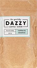 """Voňavky, Parfémy, kozmetika Kávový scrub na tvár a telo """"Káva a kokos"""" - Dazzy Coffee Face & Body Scrub Coffee & Cocos"""