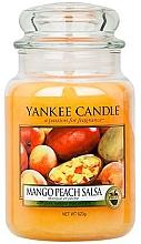 """Voňavky, Parfémy, kozmetika Vonná sviečka """"Mango-broskyňová salsa"""" - Yankee Candle Mango Peach Salsa"""