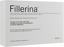Voňavky, Parfémy, kozmetika Dermo-kozmetický systém, úroveň 1 - Fillerina Dermo-Cosmetic Filler Treatment Grade 1 (gel/30ml + cr/30ml + applicator/2szt)