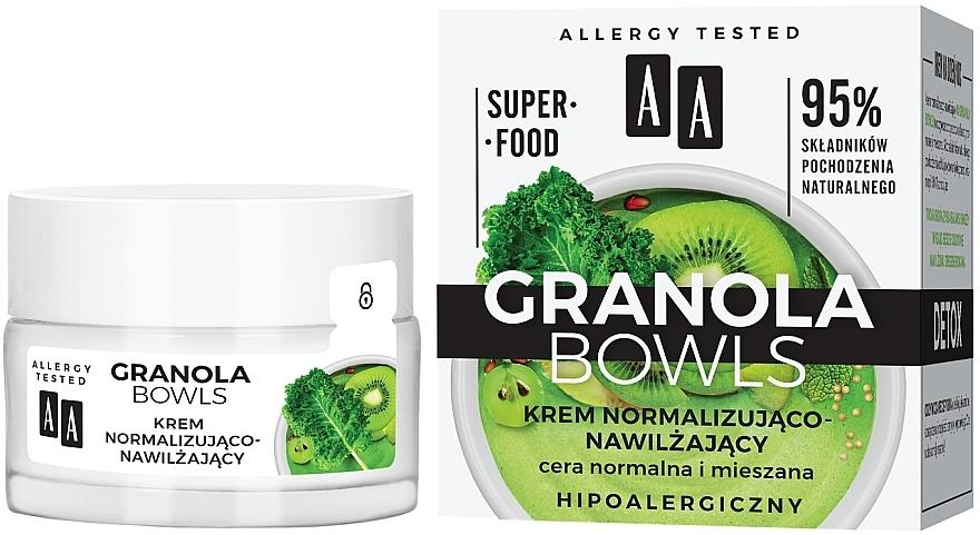 Normalizujúci a zvlhčujúci detoxikačný krém - AA Granola Bowls