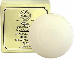 """Voňavky, Parfémy, kozmetika Mydlo na holenie """"Santalové drevo"""" - Taylor Of Old Bond Street Sandalwood Herbal Shaving Soap Refill"""