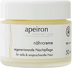 Voňavky, Parfémy, kozmetika Výživný regeneračný nočný krém - Apeiron Nourishing Regenerating Night Cream