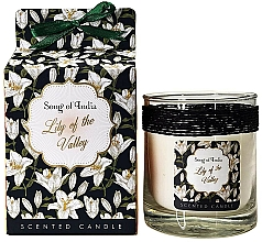 """Voňavky, Parfémy, kozmetika Vonná sviečka v sklenenej nádobe """"Levanduľa"""" - Song of India Lily of the Valley Candle"""
