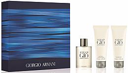 Voňavky, Parfémy, kozmetika Giorgio Armani Acqua Di Gio Pour Homme - Sada (edt/50ml + sh/gel/75ml + ash/balm/75ml)