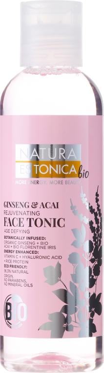 Tonikum na tvár regeneračný Ženšen a Asai - Natura Estonica Ginseng & Acai Face Tonic