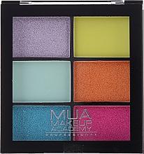 Voňavky, Parfémy, kozmetika Paleta očných tieňov - MUA Makeup Academy Professional 6 Shade Palette