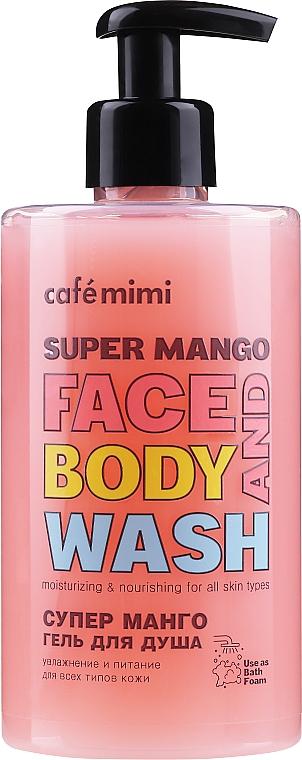 "Sprchový gél ""Super mango"" - Cafe Mimi Super Mango Face And Body Wash"