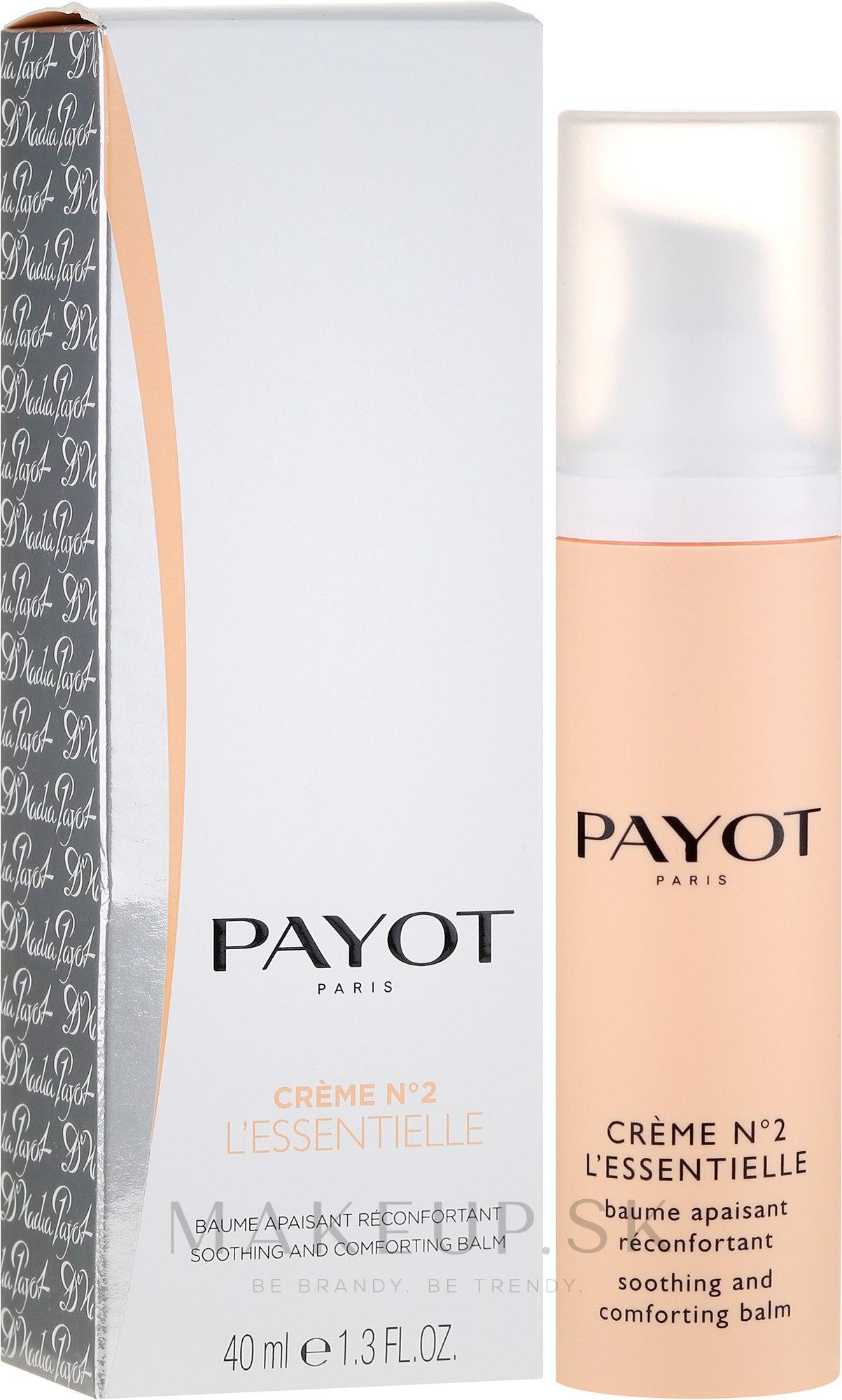 Upokojujúci balzam pre citlivú pokožku - Payot Creme № 2 — Obrázky 40 ml