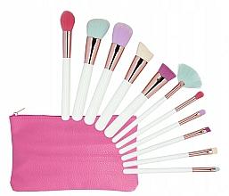 Voňavky, Parfémy, kozmetika Sada štetcov na make-up, s puzdrom, 11 ks - Tools For Beauty MiMo Multicolor Set
