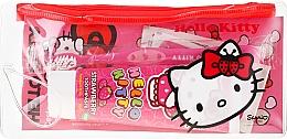 Voňavky, Parfémy, kozmetika Detská cestovná sada - VitalCare Hello Kitty Dental Travel Kit (teeth/brush + teeth/paste/75ml + 10 x plasters)