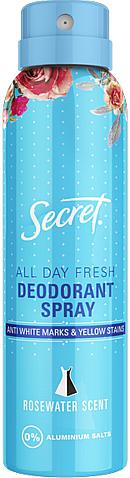 """Aerosólový dezodorant """"Ružová voda"""" - Secret Key Rosewater scent Deodorant Spray — Obrázky N1"""