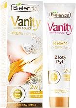 """Voňavky, Parfémy, kozmetika Depilačný krém 2v1 """"Zlatý prach"""" - Bielenda Vanity Soft Touch Depilatory Cream"""