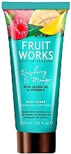 "Voňavky, Parfémy, kozmetika Scrub na telo ""Malina a mango"" - Grace Cole Fruit Works Body Scrub Raspberry & Mango"