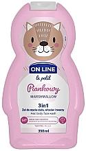 "Voňavky, Parfémy, kozmetika Čistiaci prípravok na vlasy a telo ""Marshmallow"" - On Line Le Petit Marshmallow 3 In 1 Hair Body Face Wash"