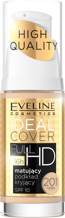 Zmatujúci tónovací krém - Eveline Cosmetics Ideal Cover Full HD SPF10