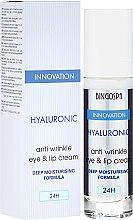 Voňavky, Parfémy, kozmetika Hyaluronický krém proti vráskam na pery a oči s hlboko hydratačným zložením - BingoSpa Hyaluronic Anti Wrinkle Eye & Lip Cream