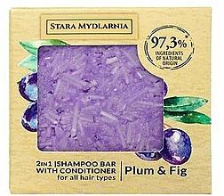 Voňavky, Parfémy, kozmetika Tuhý šampón a kondicionér Slivka a figy - Stara Mydlarnia Plum & Fig 2in1 Shampoo Bar