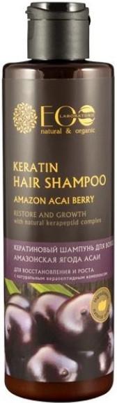 Keratínový šampón na regeneráciu a rast - ECO Laboratorie Keratin Hair Shampoo Amazon Acai Berry