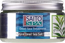 """Voňavky, Parfémy, kozmetika Soľný telový scrub """"Zelený čaj"""" - Saito Spa Aalt Body Scrub Green tea"""