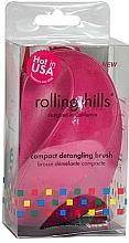 Voňavky, Parfémy, kozmetika Kompaktná kefa na vlasy, fuchsia - Rolling Hills Compact Detangling Brush Fuschia