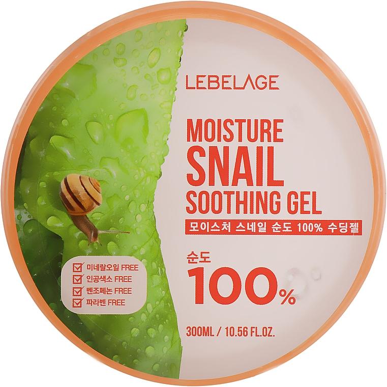 Multifunkčný hydratačný gél na tvár a telo so slimačím mucínom - Lebelage Moisture Snail 100% Soothing Gel