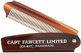 Voňavky, Parfémy, kozmetika Skladací hrebeň na bradu, CF82T - Captain Fawcett Folding Pocket Beard Comb