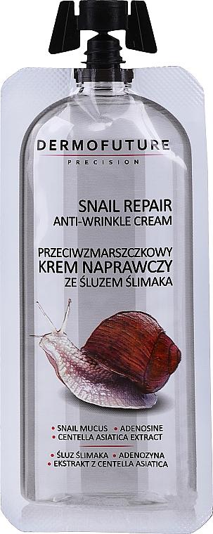 Krém proti vráskam s hlienom slimáka - Dermofuture Snail Repair Anti-Wrinkle Cream