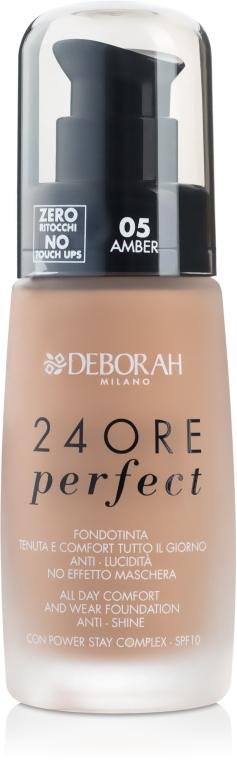 Tonálny základ na tvár dlhodobého pôsobenie - Deborah 24Ore Perfect Foundation