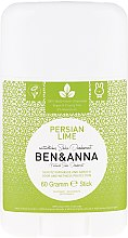 """Voňavky, Parfémy, kozmetika Dezodorant na báze sódy """"Persian lime"""" (plast) """" - Ben & Anna Natural Soda Deodorant Persian Lime"""