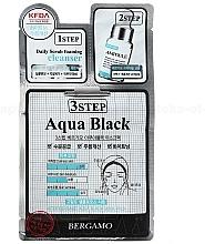 Voňavky, Parfémy, kozmetika Trojstupňová maska na tvár - Bergamo 3Step Black Aqua Mask Pack