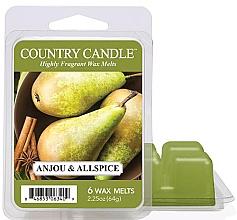 Voňavky, Parfémy, kozmetika Vosk na aromatickú lampu - Country Candle Anjou & Allspice Wax Melts