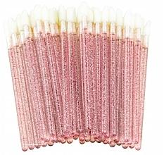 Voňavky, Parfémy, kozmetika Velúrové trblietavé aplikátory na mihalnice, obočie a pery, ružové - Lewer