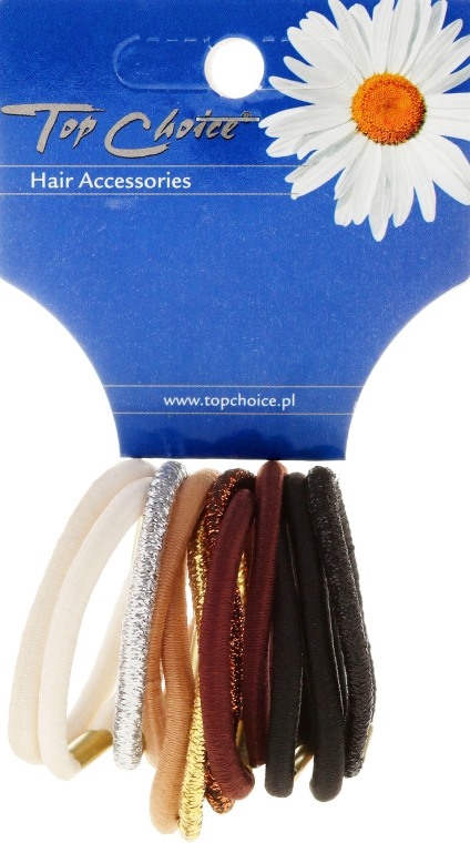 Gumičky do vlasov 12 ks, mix farieb - Top Choice