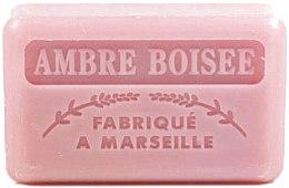 """Voňavky, Parfémy, kozmetika Marseillské mydlo """"Jantárové drevo"""" - Foufour Savonnette Marseillaise Ambre Boisee"""