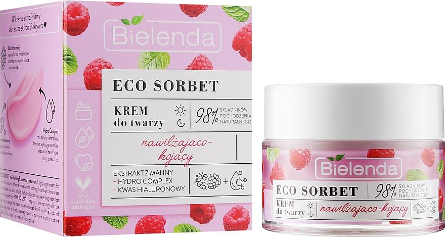 Krém na tvár s malinovým extraktom - Bielenda Eco Sorbet Moisturizing & Soothing Face Cream