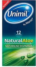 Voňavky, Parfémy, kozmetika Kondómy, 12 ks - Unimil Natural Aloe