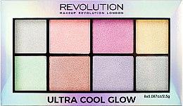 Paleta rozjasňovačov na tvár - Makeup Revolution Ultra Cool Glow — Obrázky N3