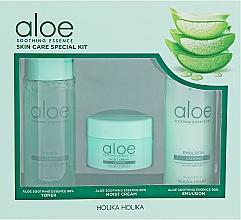 Voňavky, Parfémy, kozmetika Sada - Holika Holika Aloe (toner/50ml + emulsion/50ml + cr/20ml)