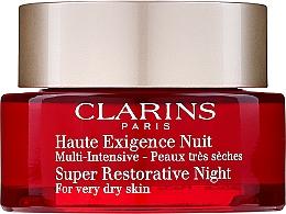 Voňavky, Parfémy, kozmetika Regeneračný nočný krém pre veľmi suchú pokožku - Clarins Super Restorative Night For Very Dry Skin
