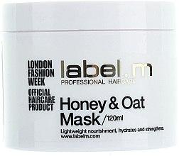 Voňavky, Parfémy, kozmetika Výživná maska Med a ovos pre suché a dehydrované vlasy - Label.m Nourishing Mask Honey and Oats