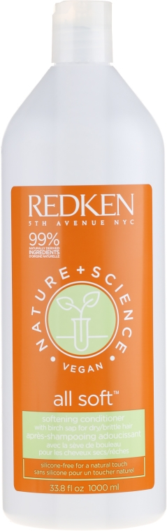 Zmäkčujúci vlasový kondicionér - Redken Nature + Science All Soft Softening Conditioner — Obrázky N3