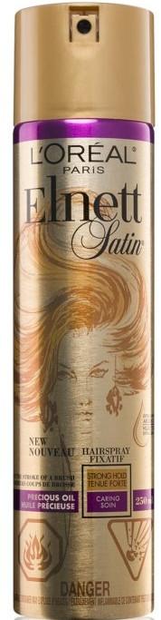 Lak na vlasy s arganovým olejom - L'Oreal Paris Elnett Precious Oil Hair Spray