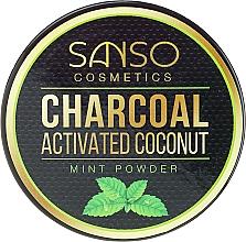 Voňavky, Parfémy, kozmetika Mätový bieliaci zubný prášok - Sanso Cosmetics Charcoal Activated Coconut Mint Powder