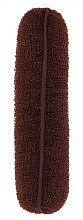 Voňavky, Parfémy, kozmetika Drôtenka do drdolov, hnedá, 150 mm - Lussoni Hair Bun Roll Brown