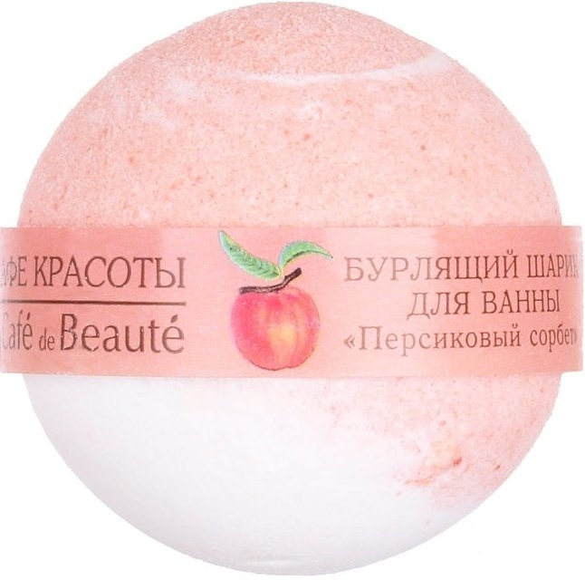"Šumivá bomba do kúpeľa ""Broskyňový sorbet"" - Le Cafe de Beaute Bubble Ball Bath"